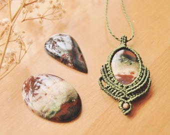 Heliotrope or Bloodstone necklace