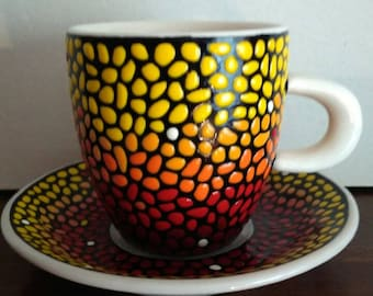 Coffee cup and saucer (for espresso)
