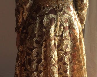 Gold evening gown- Vintage