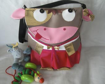 Bag strap/diaper little cow leather