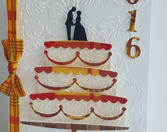 Kit card wedding theme madras make you even for envelope 22 X 11 (limited)