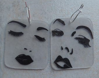 sensual face earrings