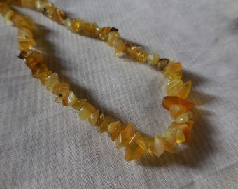 Yellow Opal - Chips seed 4-12 mm * 1 son 85 cm
