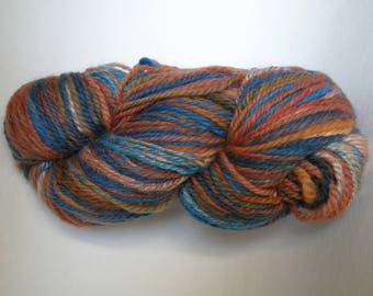 Merino and silk multicolored navajo plied skein