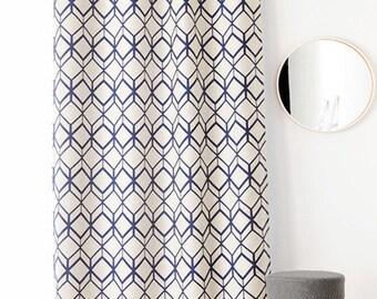 Curtain, ready to install, thick, jacquard, geometric, retro, APOLLO