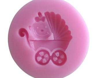 for polymer clay baby carriage silicone mold
