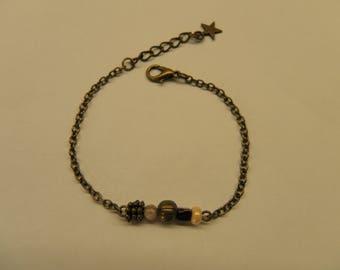 Chain beaded bracelet