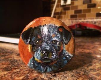 Australian cattle dog blue Heeler ornament