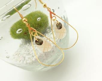drop ring earrings gold