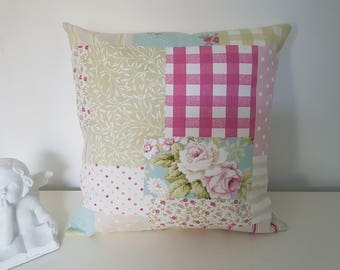 canvas pillow cover cotton patchwork