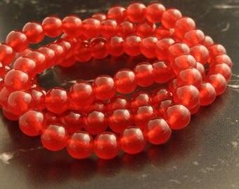 10 pearls 8mm Ruby Jade ref 180
