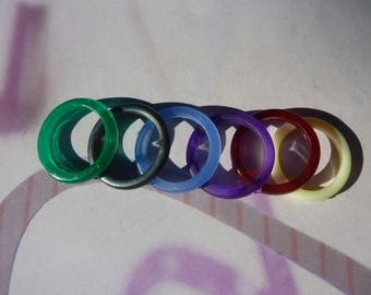 non-adjustable 16mm Plastic 6 rings