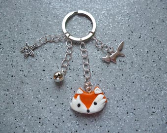 Bags Fox Keyring or polymer clay jewelry