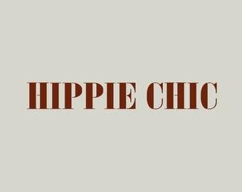 Stencil writing. Hippie chic (ref 278)