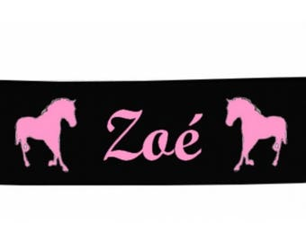 Black baby horse personalized with name banner