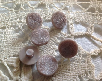 Six small vintage fancy buttons