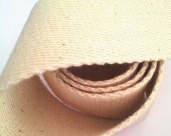 1 meter of strap cotton 6.5 cm width - ecru