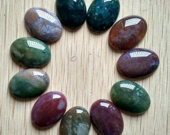 Indian AGATE: 1 25 * 18 mm natural stone cabochon