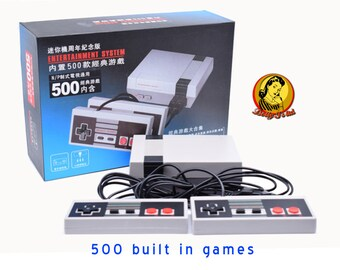 Original NES Classic Mini edition console system Clone with 500 built in original classic Nintendo Entertainment retro games (ROMS) emulated