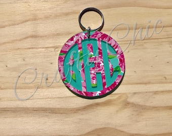 Lilly Pulitzer Inspired Keychains