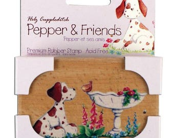 Wooden pepper & friends stamps in the garden garden - 002012