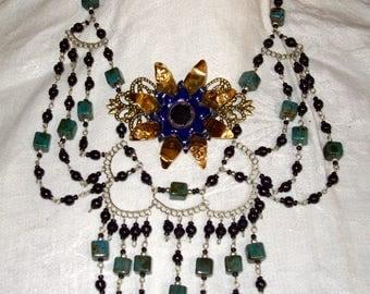Necklace creator vintage baroque romantic spirit of the flower