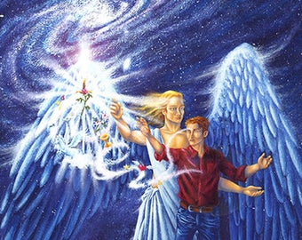 Poster large or medium // Impression on Paper // Fantasy Angel Style