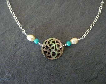 Necklace mother of Pearl Heart