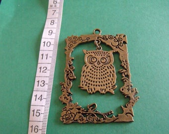 Bronze OWL 68mmx45mm pendant