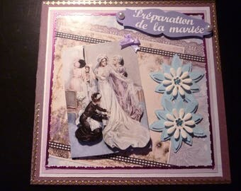 preparation of the bride card