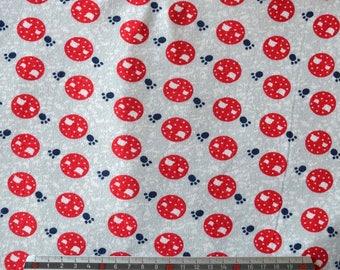 """CATS"" grey cotton JERSEY fabrics"