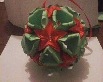 Large origami Christmas ornament