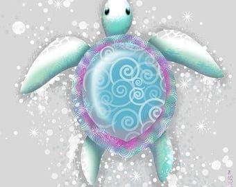 Coupon Popeline155 - T15 - sea turtle