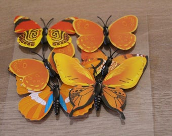 Yellow BUTTERFLIES orange of Decorations
