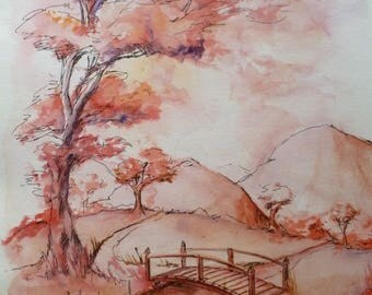Surreal landscape Japanese style