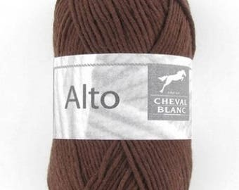 100% cotton crochet yarn wool knitting ALTO No. 104 horse white n ° 140 brown color
