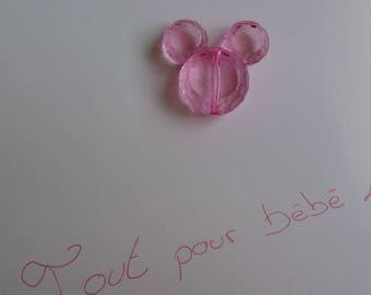 light pink acrylic mickey head