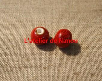 handmade ceramic bead 8 mm