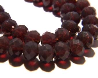 "40 glass beads pumpkin faceted - 6 mm - way ""jade"" - Purple Purple F54"