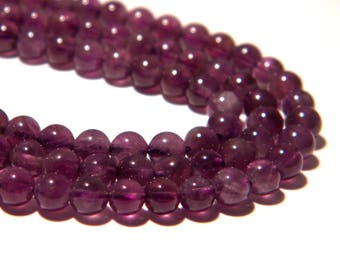 20 beads - 4 mm Amethyst - purple-K01-gems stones fine-Amethyst purple.