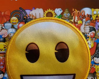 Applique patch iron on emoji pattern