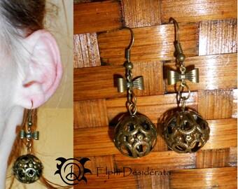 """Love in a cage"" earrings"