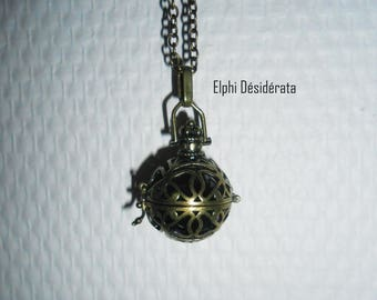 Bola pregnancy necklace with Black Pearl sound and cage. Zen and serenity