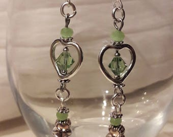 Love these earrings with their hearts!