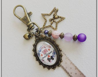 Teacher bag charm, teacher gift, jewel centerpiece, great teacher