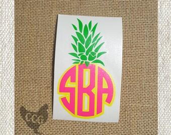 Pineapple Monogram Decal