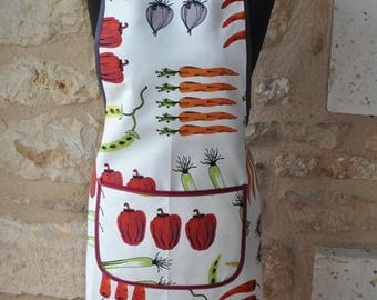 APRON WOMAN PATTERN VEGETABLES WITH POCKET
