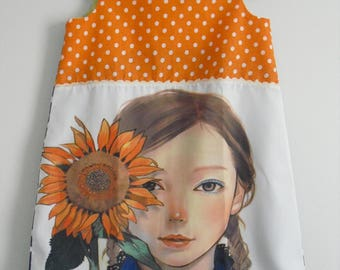 "Very cute dress ""The sunflower girl"" T 4 years"