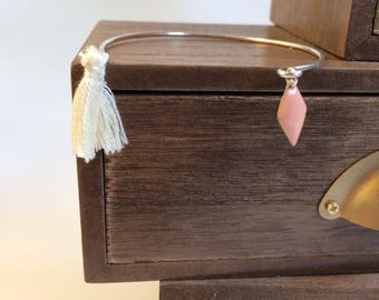 Sequin and tassel Bangle Bracelet