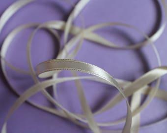 Ribbon by the yard white ecru satin ribbon